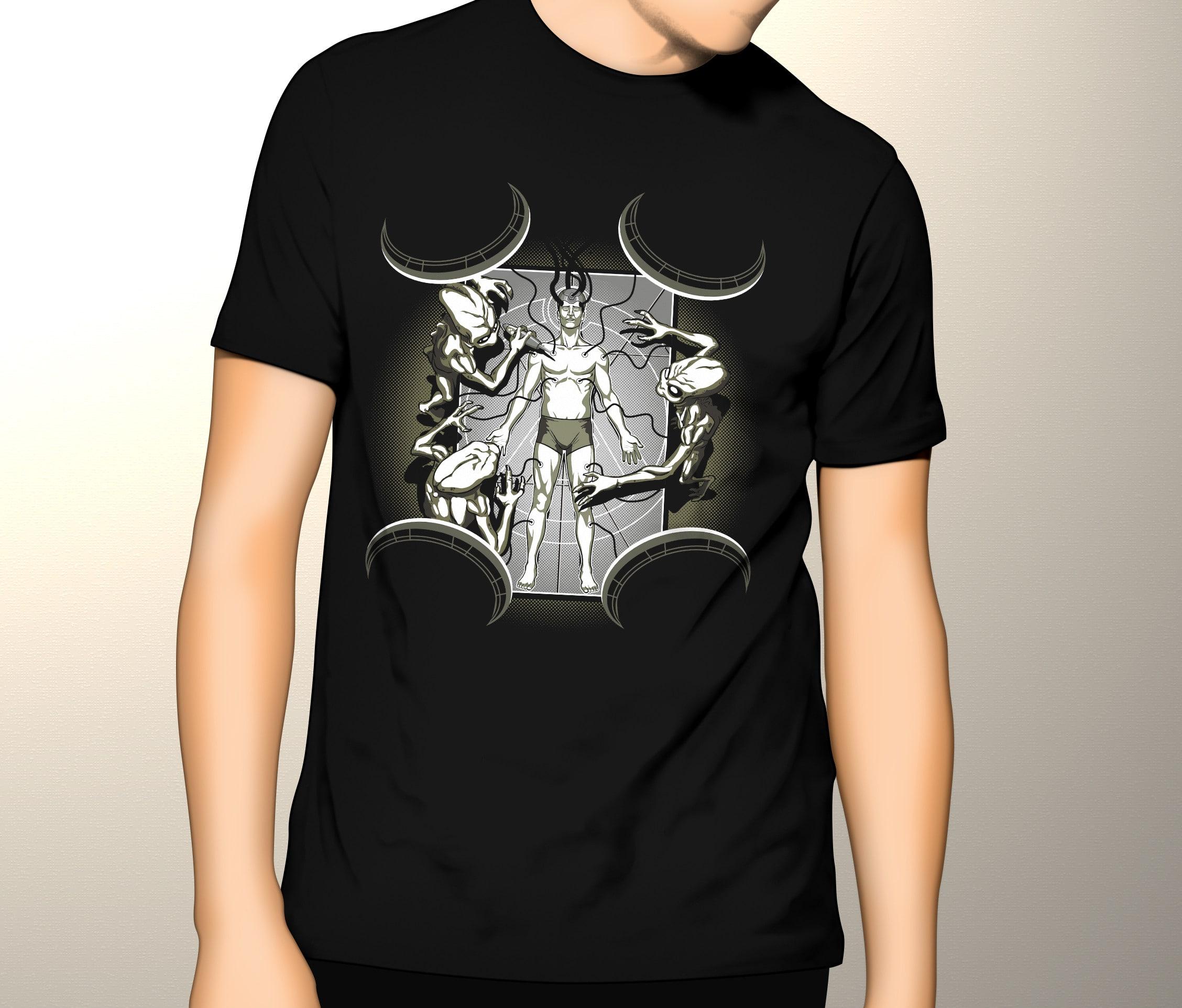 Camiseta Abdução (Brilha no Escuro!)