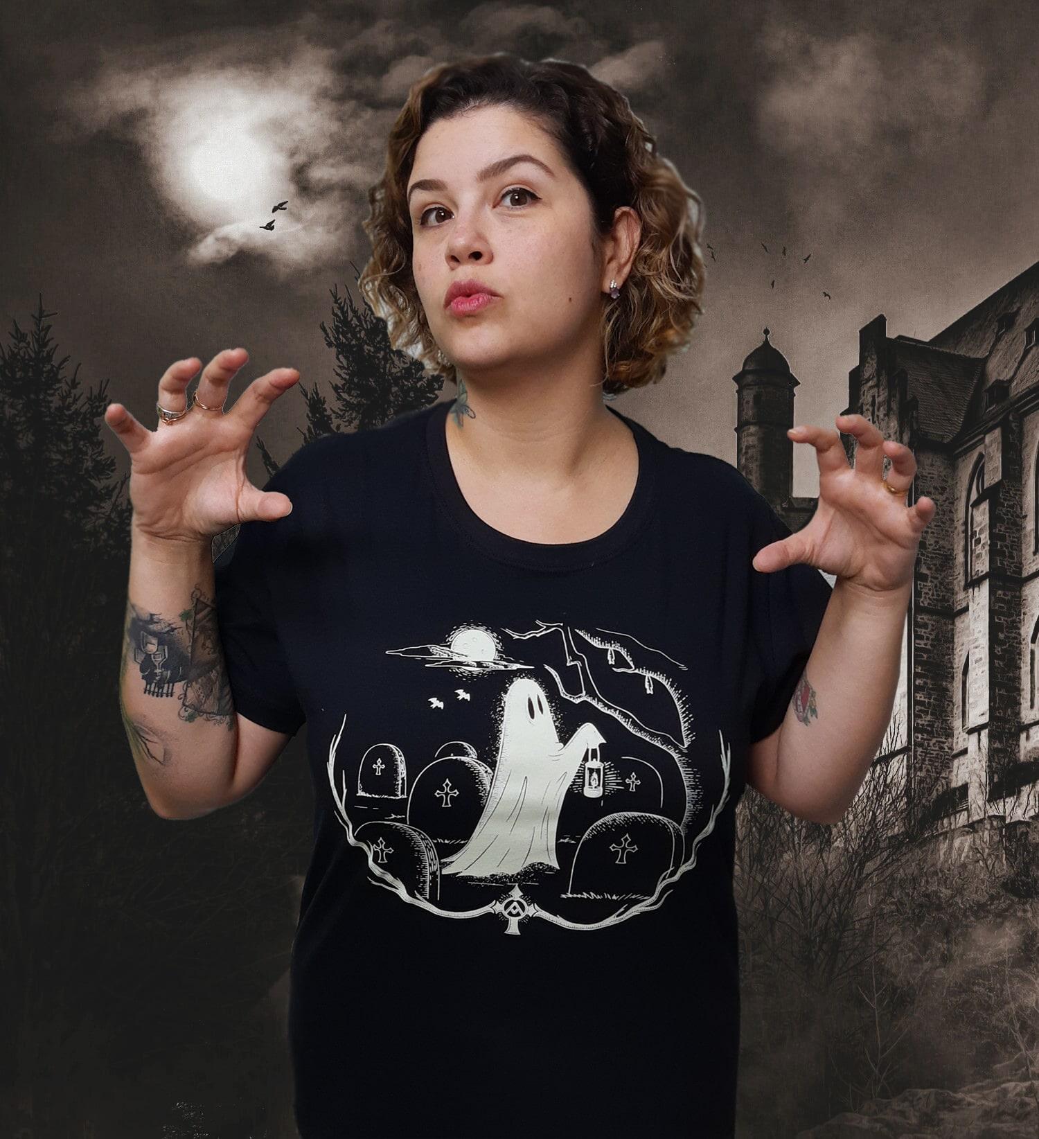 Camiseta Fantasma! (Brilha no Escuro!)