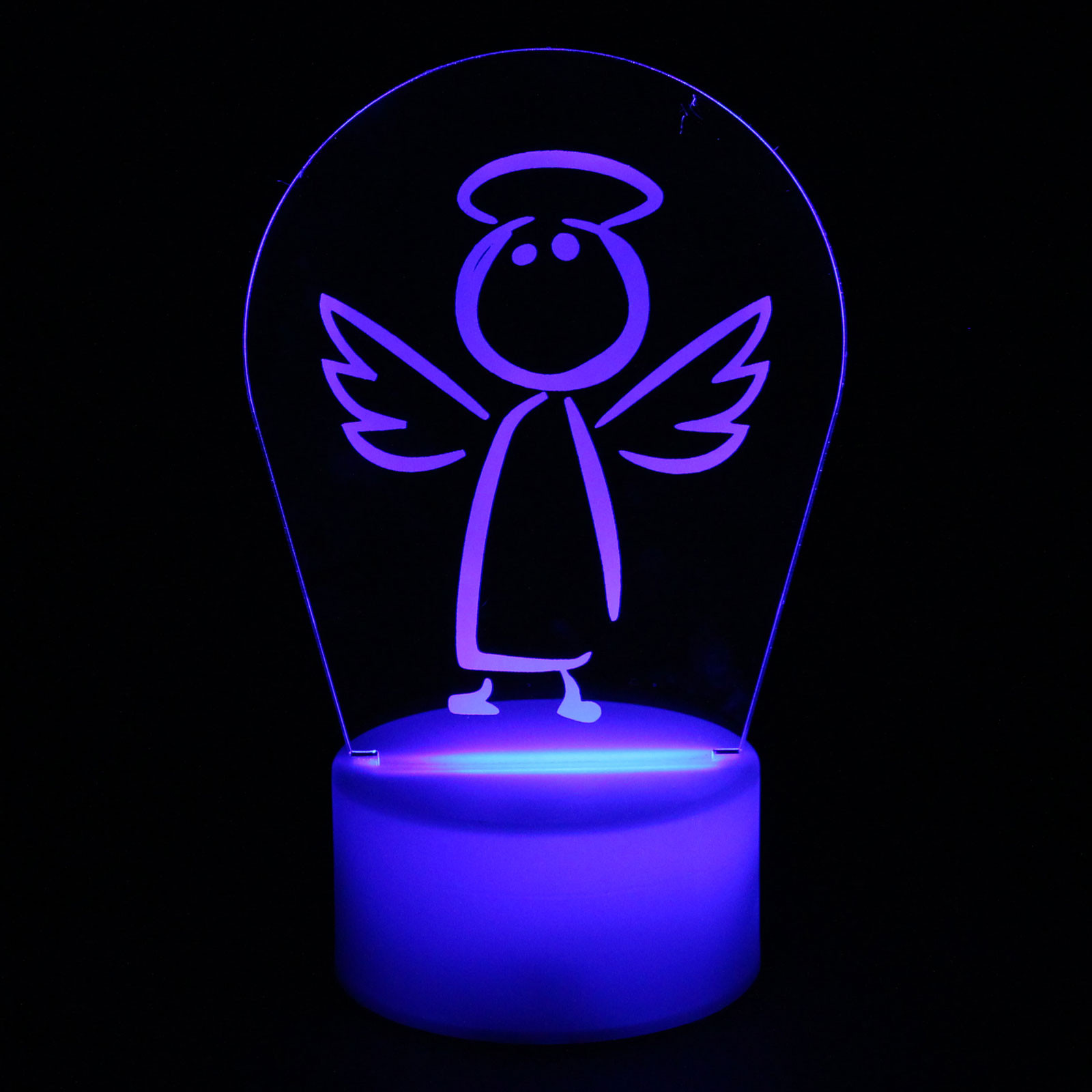 Luminária em Acrílico Sem Fio: Anjinho