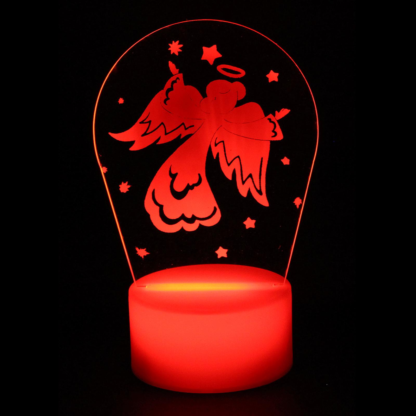 Luminária em Acrílico Sem Fio: Anjo Vermelho