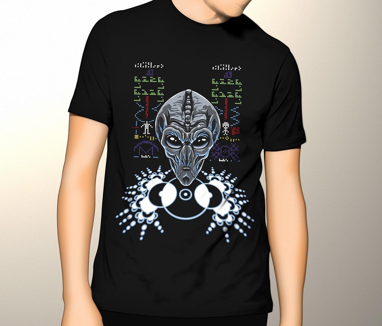 Camiseta Mensagem de Arecibo (Brilha no Escuro!)