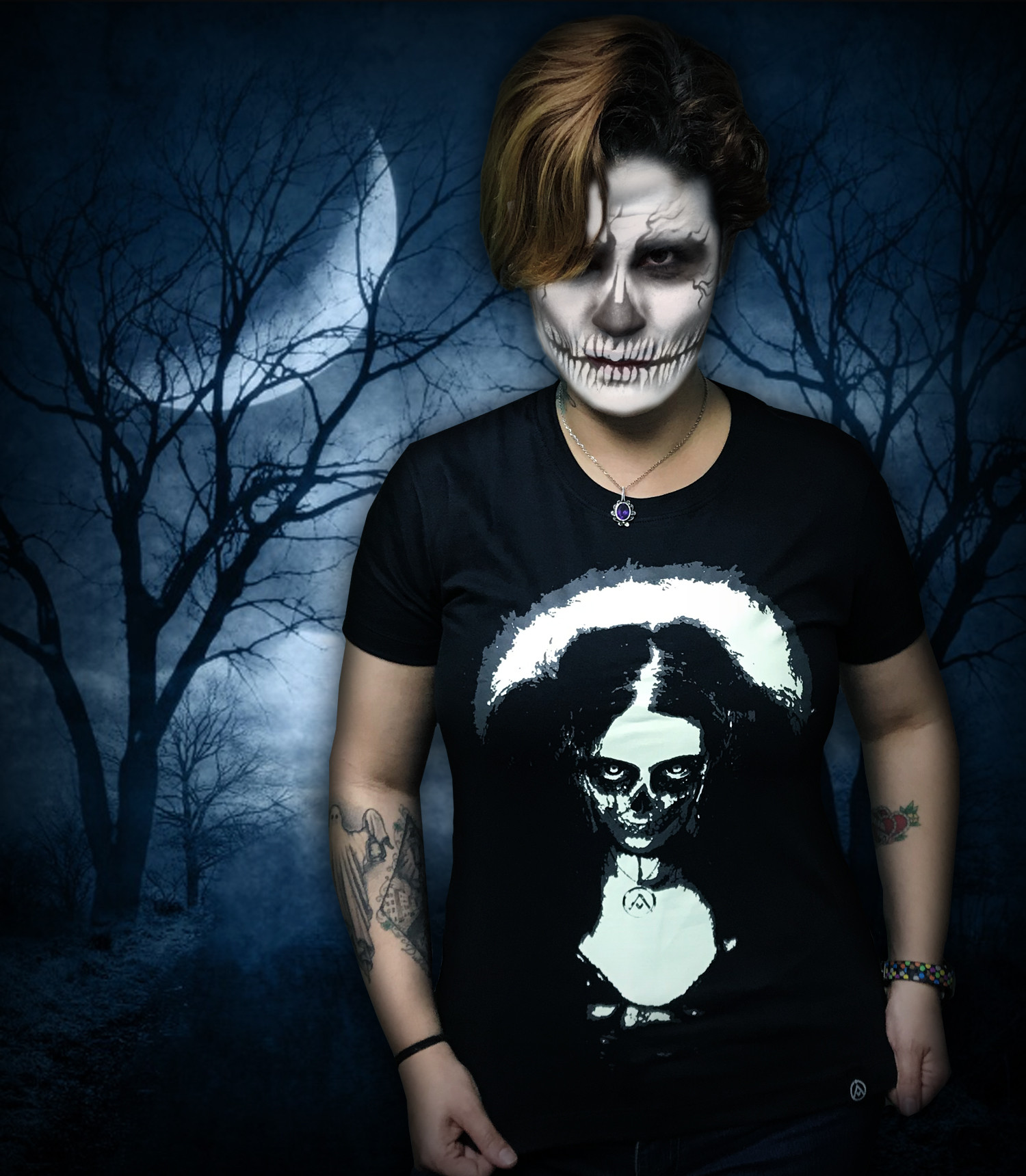 Camiseta Dark Girl (BRILHA NO ESCURO!)