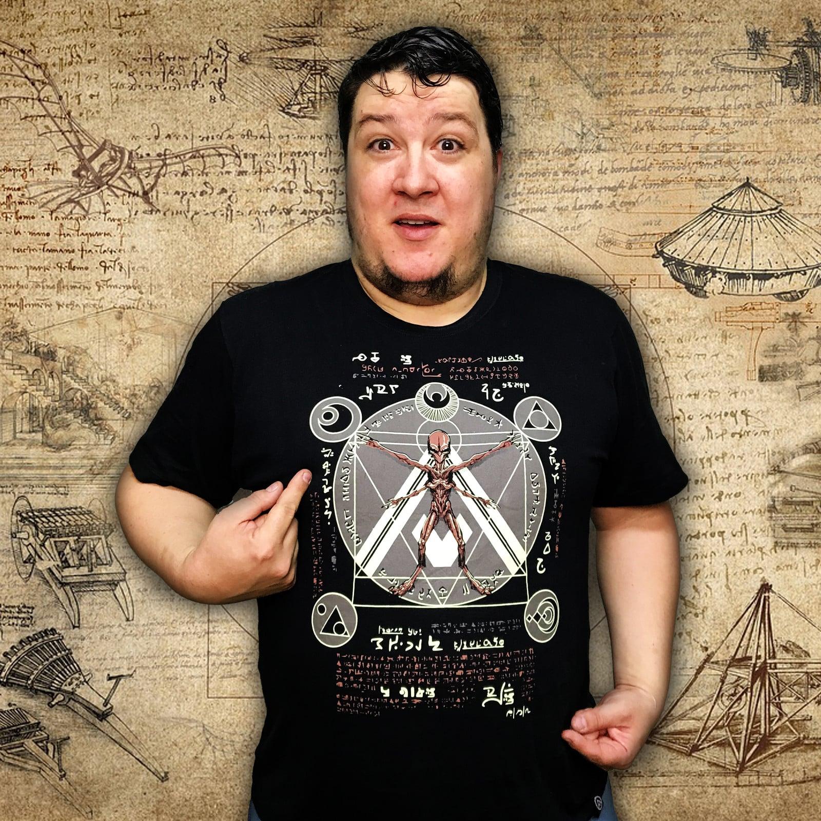 Camiseta Alien Vitruviano (Brilha no Escuro!)