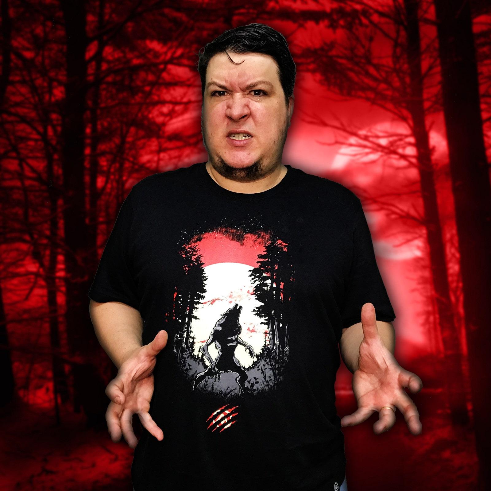 Camiseta Lobisomem (Brilha no Escuro!)