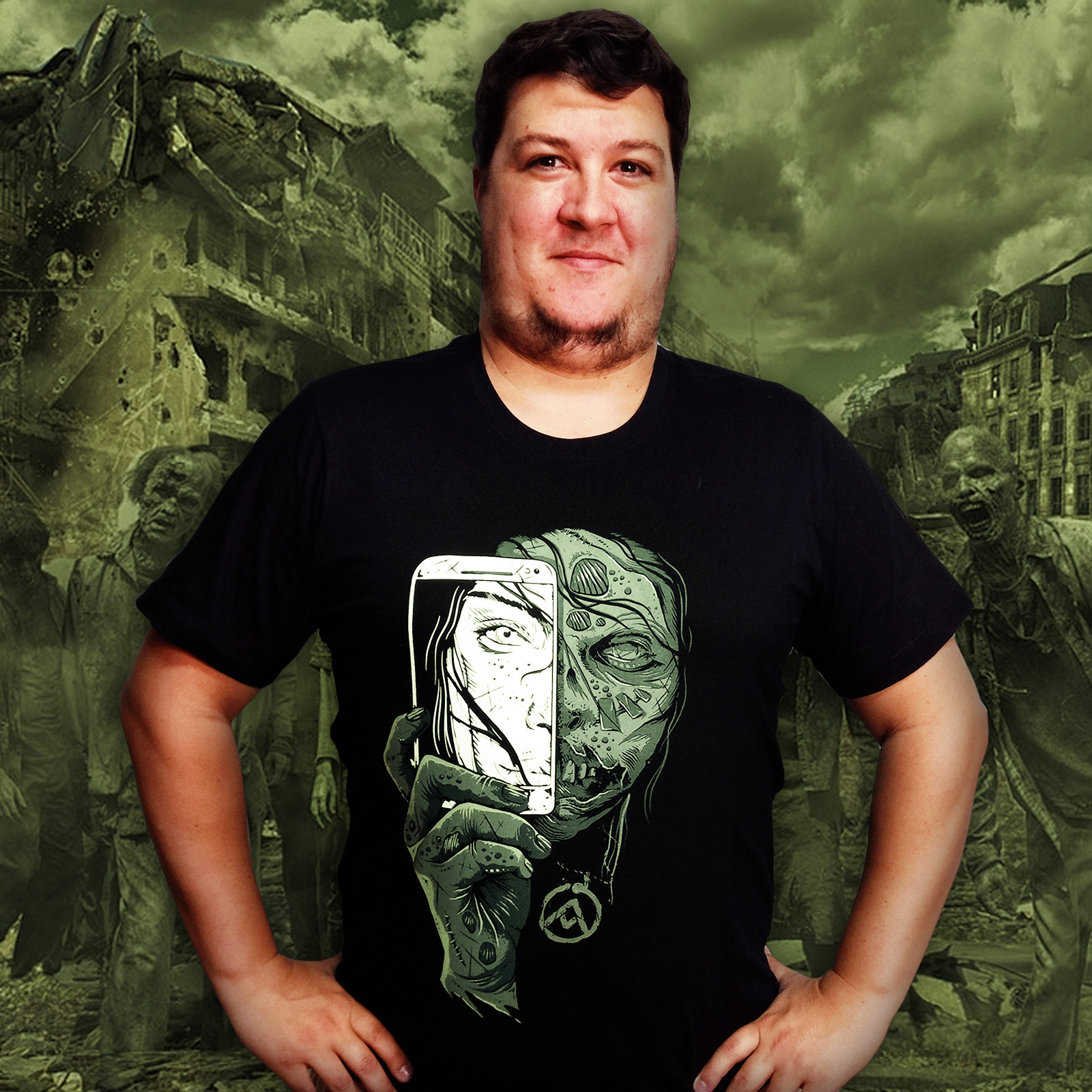Camiseta Zumbi Face Oculta (Brilha no Escuro!)
