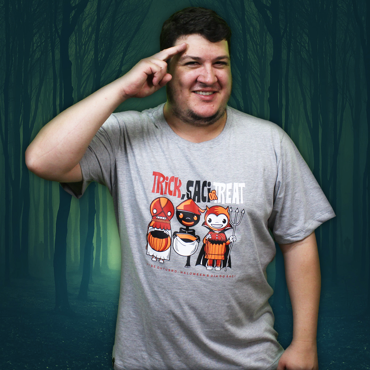 Camiseta Especial Halloween (Trick Saci or Treat)