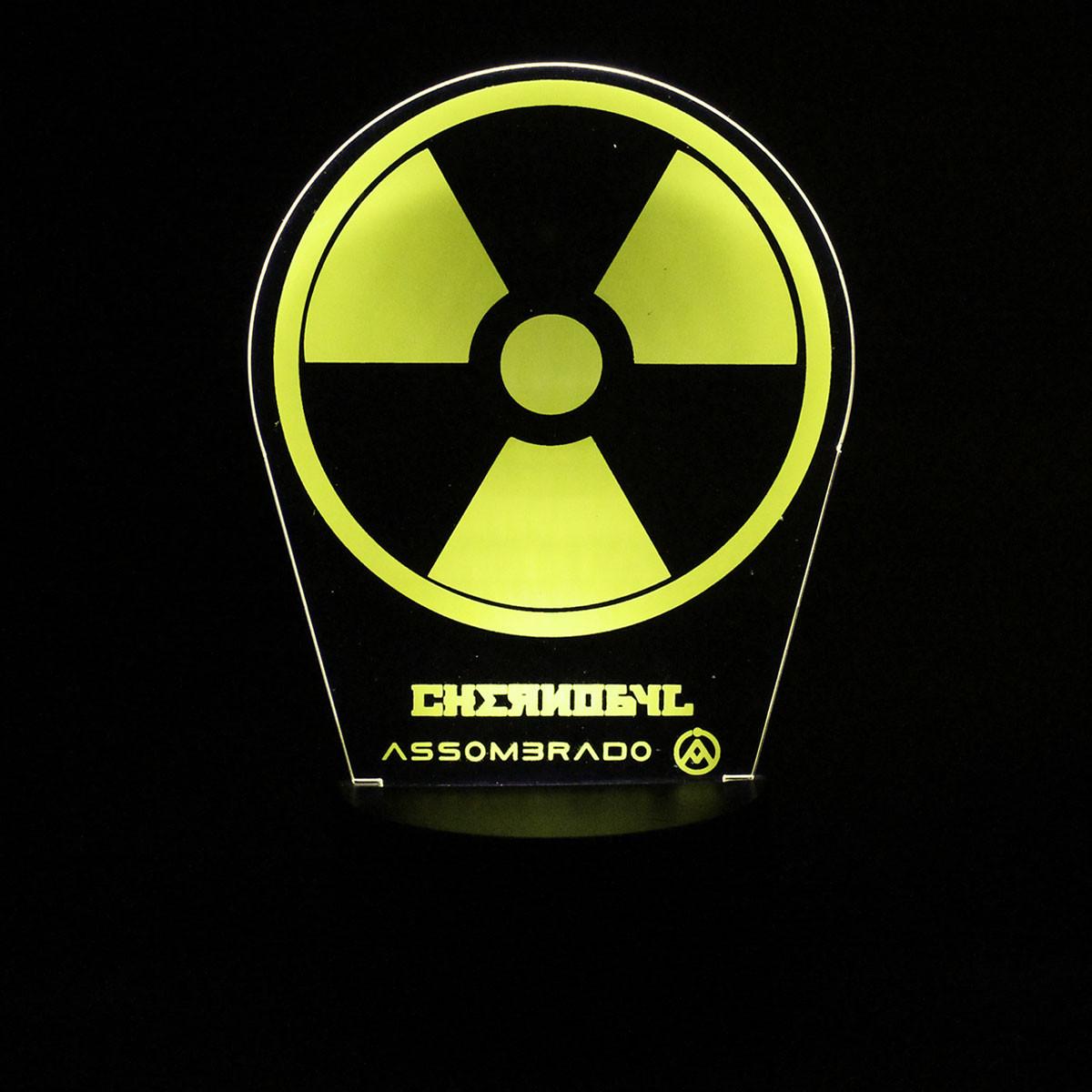 Luminária em Acrílico Sem Fio: Chernobyl