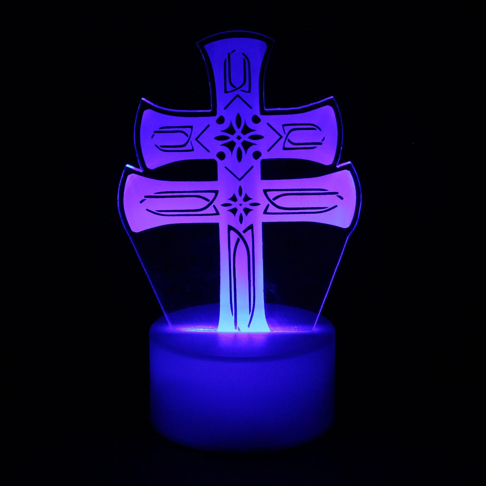 Luminária em Acrílico Sem Fio: Cruz de Caravaca