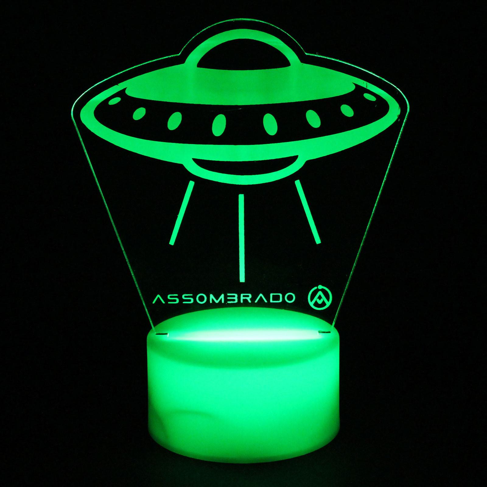 Luminária em Acrílico Sem Fio: Disco Voador