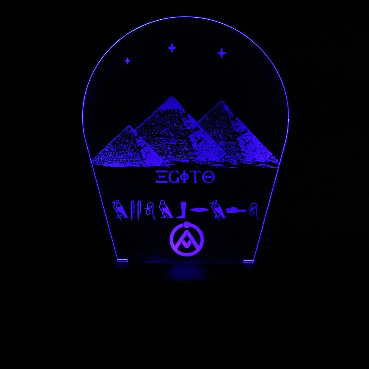Luminária em Acrílico Sem Fio: Piramides do Egito