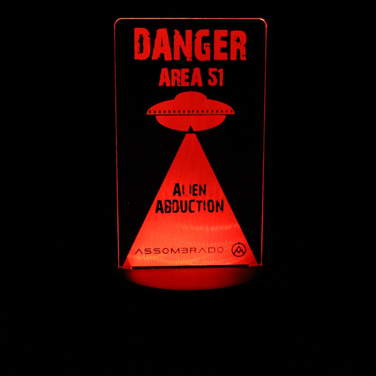 Luminária em Acrílico Sem Fio: Área 51