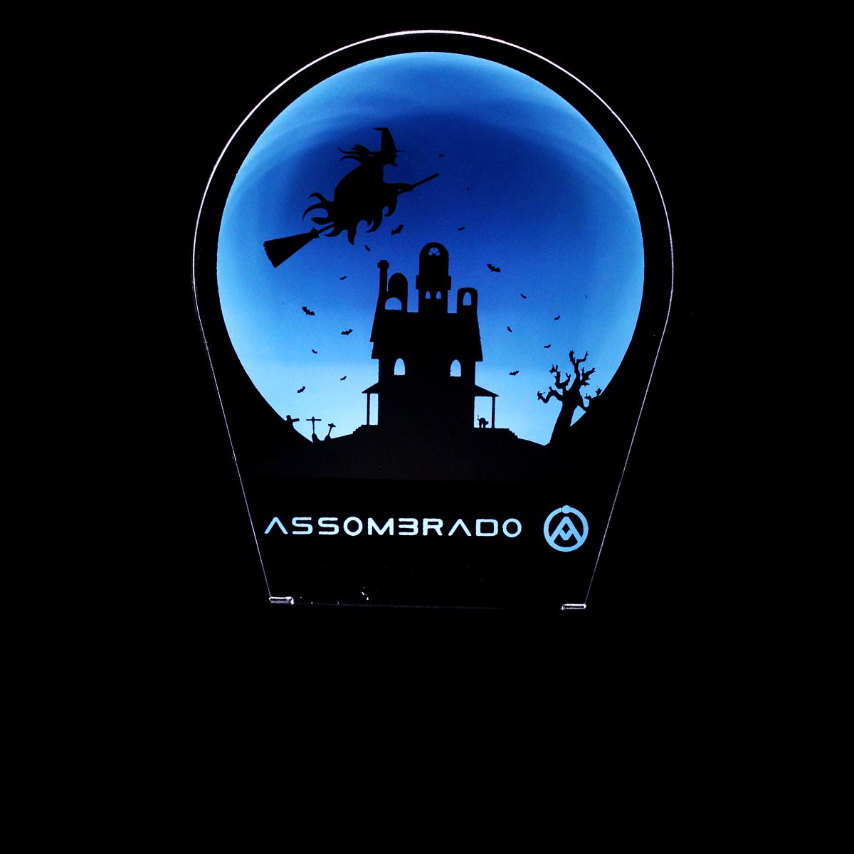 Luminária em Acrílico Sem Fio: Bruxa