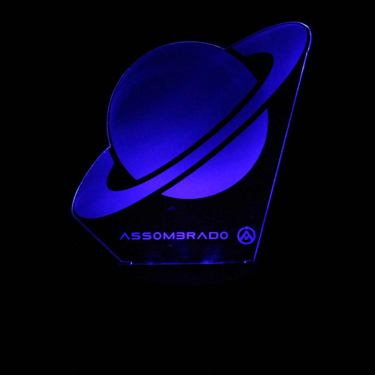 Luminária em Acrílico Sem Fio: Saturno