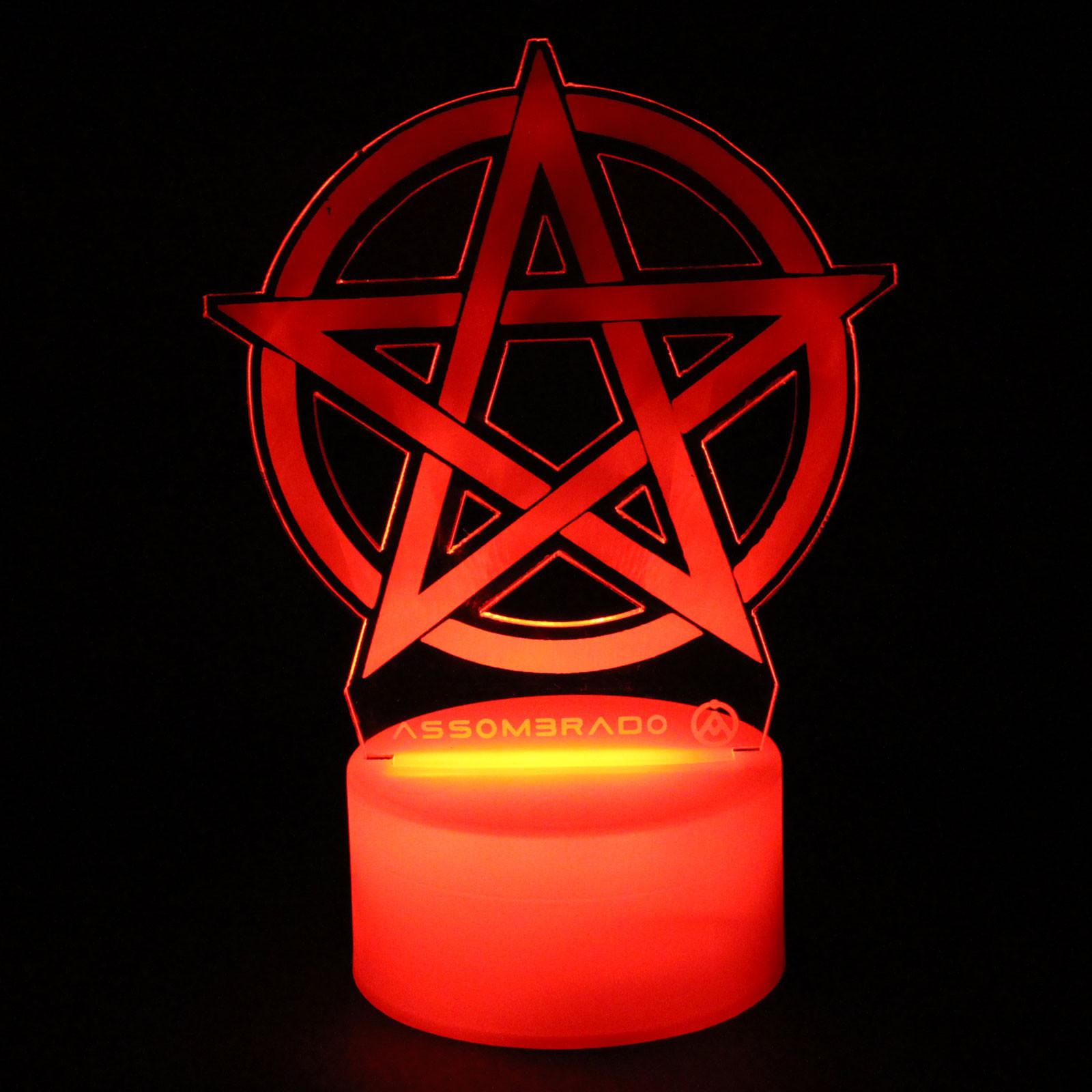 Luminária em Acrílico Sem Fio: Pentagrama (Vazado!)