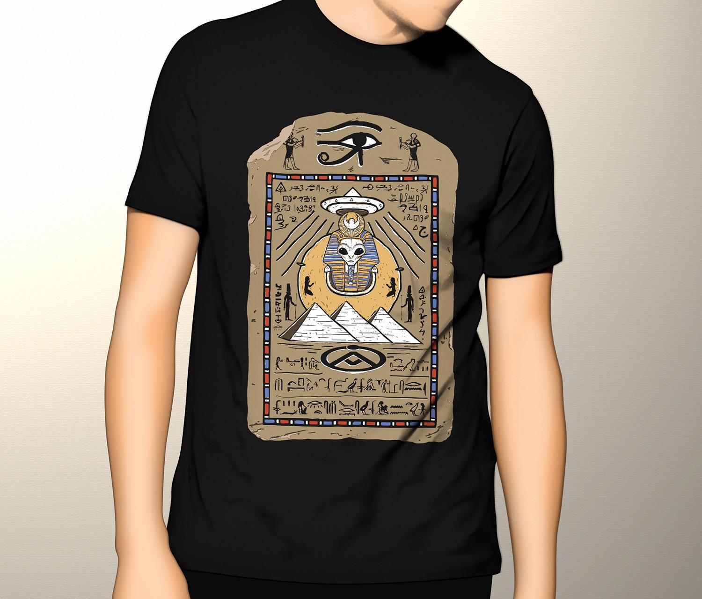 Camiseta Egito Ufológico (Brilha no Escuro!)