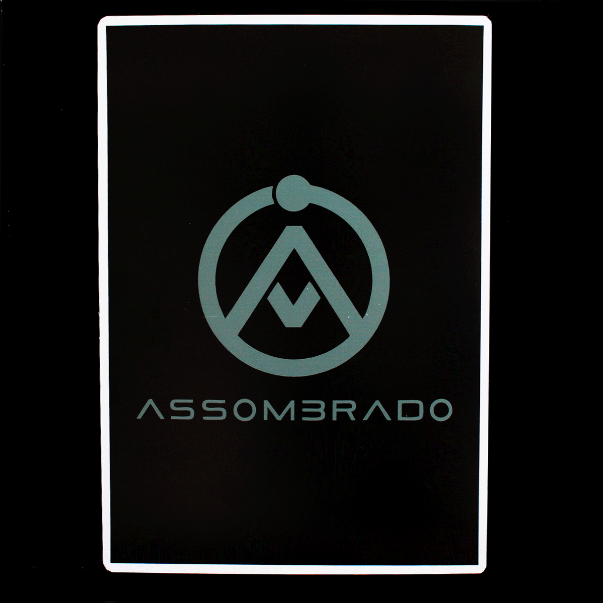 Placa Logo do Canal Assombrado