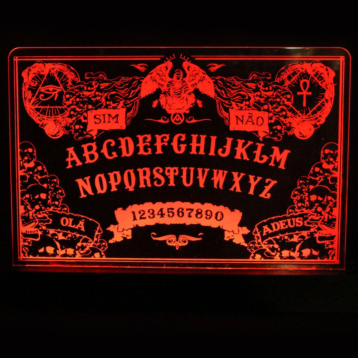 Luminária em Acrílico Com Fio: Tábua Ouija