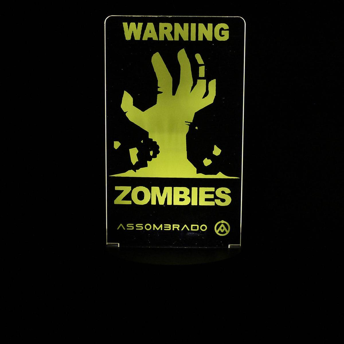 Luminária em Acrílico Sem Fio: Zombies